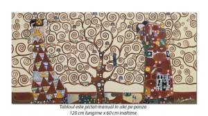 poza Tablou living, dormitor - Copacul vietii - 120x60cm - reproducere Gustav Klimt (2)