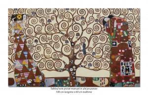 poza Tablou living, dormitor - Copacul vietii - 100x60cm - reproducere Gustav Klimt (2)