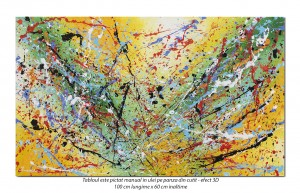 poza Random (1) - 100x60cm tablou abstract ulei pe panza, Spectaculos!
