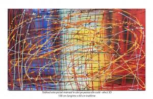 poza Random (5) - 100x60cm tablou abstract ulei pe panza, Spectaculos!