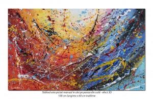 poza Random (9) - 100x60cm tablou abstract ulei pe panza, Spectaculos!