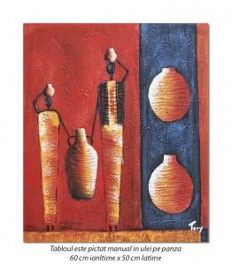 poza Tablou african - In cautarea apei (1) - 60x50cm ulei pe panza in relief