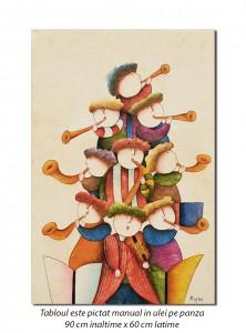 poza Orchestra prichindeilor (3) - 90x60cm ulei pe panza, Spectaculos!