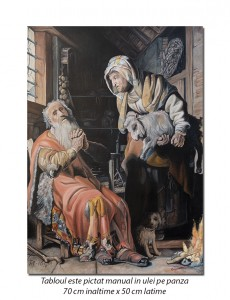 poza Tobit Accusing Anna of Stealing the Kid - 70x50cm ulei pe panza - reproducere Rembrandt, FABULOS