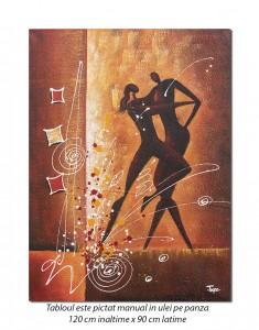 Tango (1) - tablou modern GIGANT 120x90cm, ulei pe panza Spectaculos!