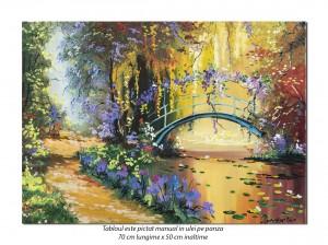 Podul japonez (2) - tablou ulei 70x50cm, repro Claude Monet