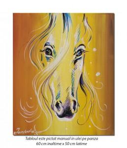Karina - 60x50cm pictura cal ulei pe panza, Superba!
