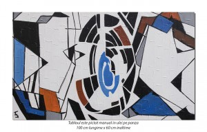 Amprenta - 100x60cm tablou abstract ulei pe panza, Spectaculos!