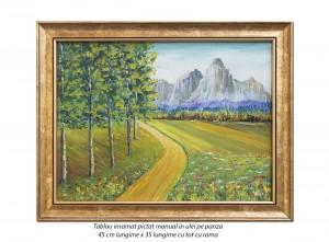 Peisaj feeric - 45x35cm cu rama, ulei pe panza, Superb!