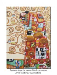 Copacul vietii (detaliu) - 70x0cm ulei pe panza - repro Gustav Klimt, Magistral!