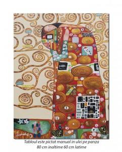 Copacul vietii (detaliu) - 80x60cm ulei pe panza - repro Gustav Klimt, Magistral!