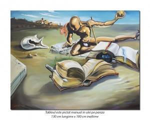 Book Transforming Itself Into A Nude Woman - 130x100cm ulei pe panza, reproducere Salvador Dali