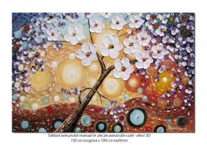 Tablou GIGANT living, dormitor - Copacul vietii (2) - 150x100cm ulei pe panza efect 3D, MAGISTRAL!