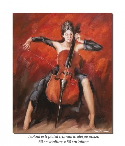 VIRTUOZA (2) - 60x50cm pictura ulei pe panza de in, Superb!