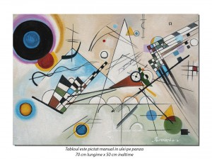 Tablou abstract - Composition VIII - 70x50cm ulei pe panza, reproducere Wassily Kandinsky