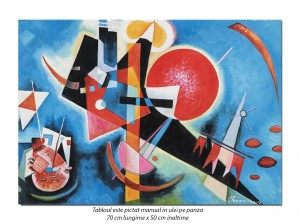 Tablou abstract - In blue - 70x50cm ulei pe panza, reproducere Wassily Kandinsky