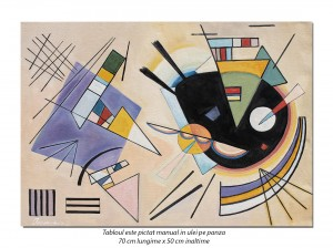 Tablou abstract - Composition - 70x50cm ulei pe panza, reproducere Wassily Kandinsky