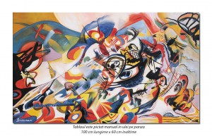 Tablou abstract - Composition VII - 100x60cm ulei pe panza, reproducere Wassily Kandinsky