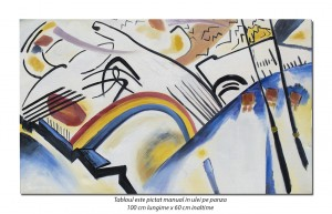 Tablou abstract - Cossacks - 100x60cm ulei pe panza, reproducere Wassily Kandinsky