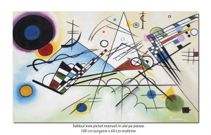 Tablou abstract - Composition VIII - 100x60cm ulei pe panza, reproducere Wassily Kandinsky