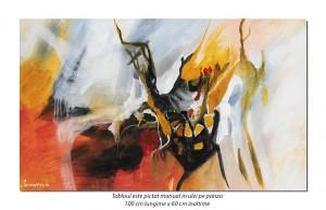 Conexiuni astrale (2) - 100x60cm tablou abstract ulei pe panza, Spectaculos!
