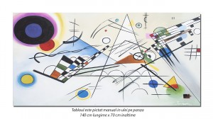 Tablou GIGANT abstract - Composition VIII - 140x70cm ulei pe panza, reproducere Wassily Kandinsky