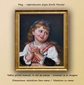 poza May - Reproducere Emile Munier (tablou cu rama 70x60cm)