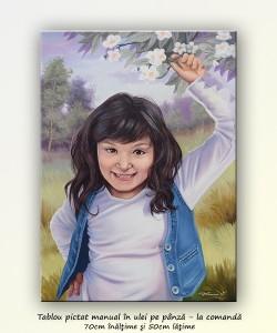 poza Portet de fetiță - tablou creație, 70x50cm