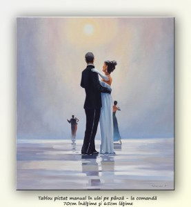 poza Dance Me to the End of Love - tablou pictat manual ulei pe panza - repro Jack Vettriano