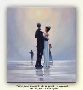 Poza Dance me to the End of Love - tablou pictat manual ulei pe panza - repro Jack Vettriano. Poza 68749
