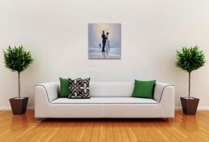 Poza Dance me to the End of Love - tablou pictat manual ulei pe panza - repro Jack Vettriano. Poza 68750