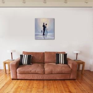 Poza Dance me to the End of Love - tablou pictat manual ulei pe panza - repro Jack Vettriano. Poza 68751