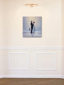 Poza Dance me to the End of Love - tablou pictat manual ulei pe panza - repro Jack Vettriano. Poza 68752