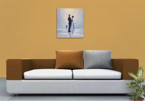 Poza Dance me to the End of Love - tablou pictat manual ulei pe panza - repro Jack Vettriano. Poza 68754