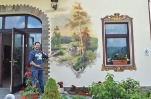 Poza Pictura exteriora - pensiune. Poza 68774