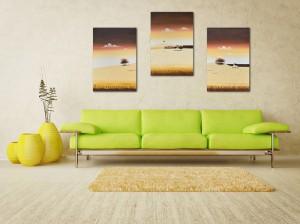 Poza Tablouri living, dormitor - Sezon galben - tablou triptic 180x90cm. Poza 69122