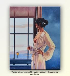 poza Baby, bye bye - tablou pictat manual ulei pe panza - repro Jack Vettriano, 60x48cm