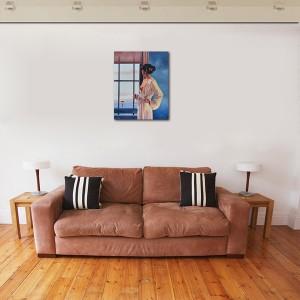 Baby, bye bye - tablou pictat manual ulei pe panza - repro Jack Vettriano, 60x48cm. Poza 71803