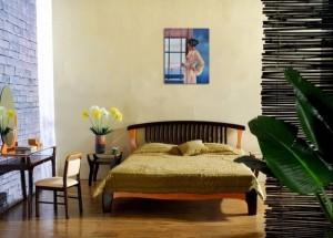 Baby, bye bye - tablou pictat manual ulei pe panza - repro Jack Vettriano, 60x48cm. Poza 71804