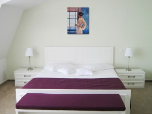 Baby, bye bye - tablou pictat manual ulei pe panza - repro Jack Vettriano, 60x48cm. Poza 71805