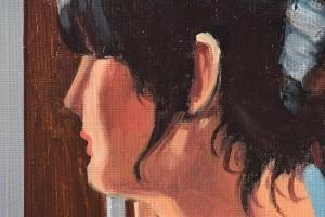 Baby, bye bye - tablou pictat manual ulei pe panza - repro Jack Vettriano, 60x48cm. Poza 71806