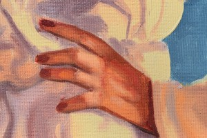 Baby, bye bye - tablou pictat manual ulei pe panza - repro Jack Vettriano, 60x48cm. Poza 71808