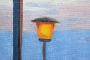 Baby, bye bye - tablou pictat manual ulei pe panza - repro Jack Vettriano, 60x48cm. Poza 71810