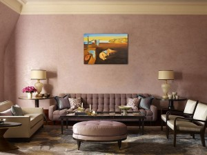 The Persistence of Memory - repro Salvador Dali, pictura ulei pe panza de in 100x70cm, Magistral!. Poza 80862