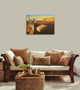 The Persistence of Memory - repro Salvador Dali, pictura ulei pe panza de in 100x70cm, Magistral!. Poza 80867