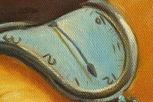 The Persistence of Memory - repro Salvador Dali, pictura ulei pe panza de in 100x70cm, Magistral!. Poza 80868